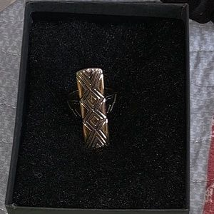 Authentic two tone House of Harlow size 8 ring